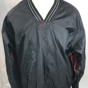 Vintage NIKE Windbreaker jacket XL V-Neck black
